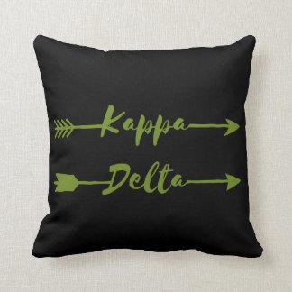 Kappa Delta Arrow Throw Pillow