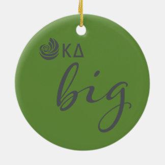 Kappa Delta Big Script Ceramic Ornament