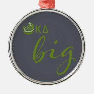 Kappa Delta Big Script Metal Ornament