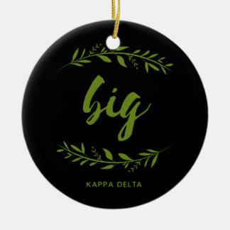 Kappa Delta Big Wreath Ceramic Ornament