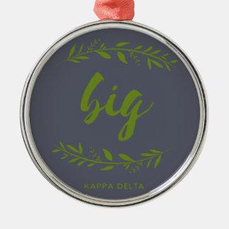 Kappa Delta Big Wreath Metal Ornament