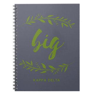 Kappa Delta Big Wreath Notebook