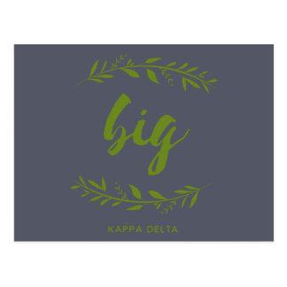 Kappa Delta Big Wreath Postcard
