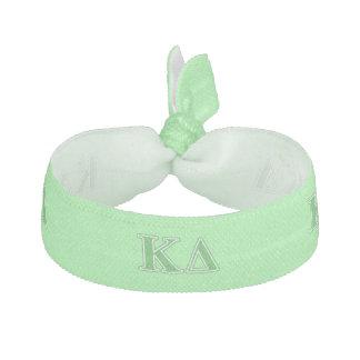 Kappa Delta Green Letters Hair Tie
