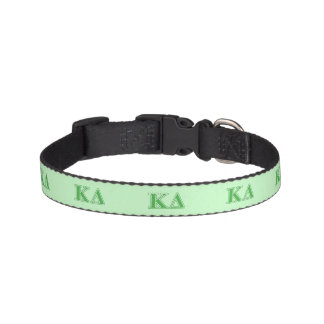 Kappa Delta Green Letters Pet Collar