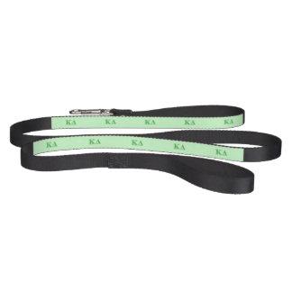 Kappa Delta Green Letters Pet Lead