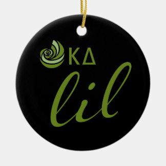 Kappa Delta Lil Script Ceramic Ornament