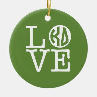 Kappa Delta Love Ceramic Ornament