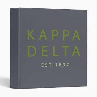 Kappa Delta Modern Type Binder