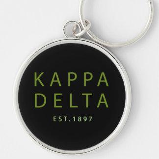 Kappa Delta Modern Type Keychain