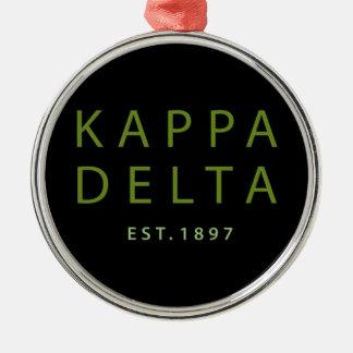 Kappa Delta Modern Type Metal Ornament
