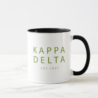 Kappa Delta Modern Type Mug
