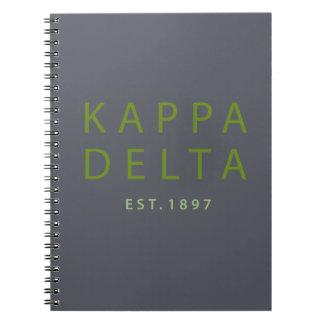 Kappa Delta Modern Type Notebook