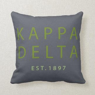 Kappa Delta Modern Type Throw Pillow