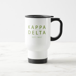 Kappa Delta Modern Type Travel Mug