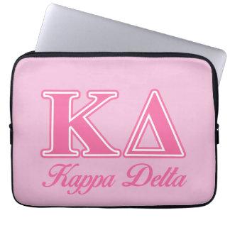 Kappa Delta Pink Letters Laptop Sleeve