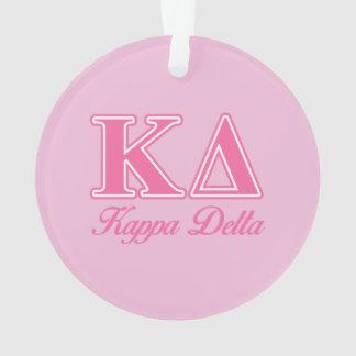 Kappa Delta Pink Letters Ornament
