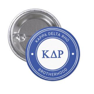 Kappa Delta Rho   Badge 1 Inch Round Button