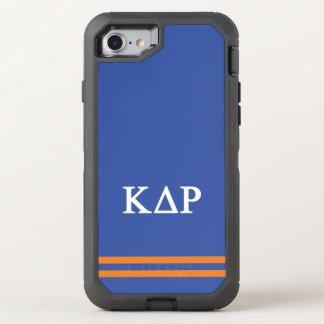 Kappa Delta Rho | Sport Stripe OtterBox Defender iPhone 8/7 Case