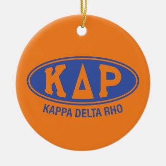 Kappa Delta Rho   Vintage Round Ceramic Ornament