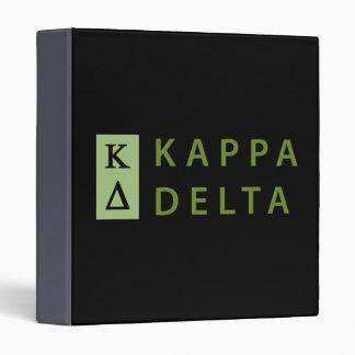 Kappa Delta Stacked Binder