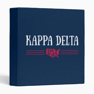 Kappa Delta USA 3 Ring Binder