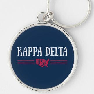 Kappa Delta USA Keychain