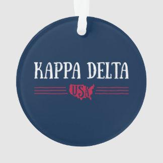 Kappa Delta USA Ornament