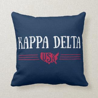 Kappa Delta USA Throw Pillow