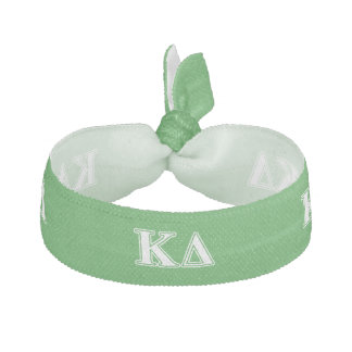 Kappa Delta White Letters Hair Tie