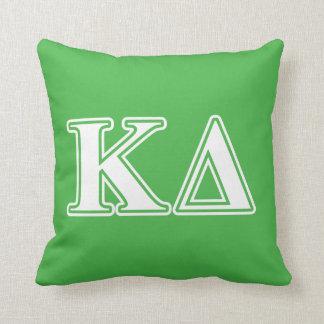 Kappa Delta White Letters Throw Pillow