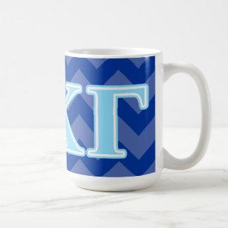 Kappa Kappa Gamma Baby Blue Letters Coffee Mug