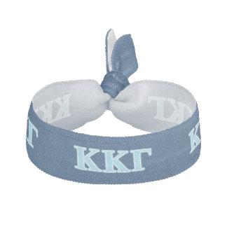 Kappa Kappa Gamma Baby Blue Letters Hair Tie
