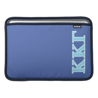 Kappa Kappa Gamma Baby Blue Letters MacBook Sleeve