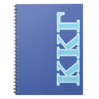 Kappa Kappa Gamma Baby Blue Letters Notebooks