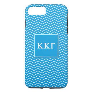 Kappa Kappa Gamma | Chevron Pattern iPhone 8 Plus/7 Plus Case
