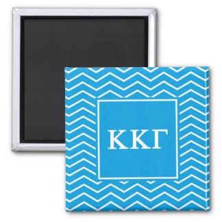 Kappa Kappa Gamma | Chevron Pattern Magnet