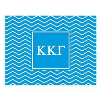 Kappa Kappa Gamma   Chevron Pattern Postcard