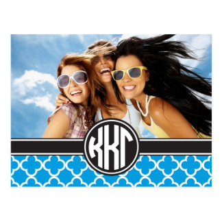Kappa Kappa Gamma   Monogram and Photo Postcard