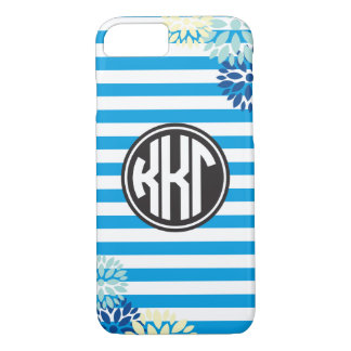 Kappa Kappa Gamma | Monogram Stripe Pattern iPhone 7 Case