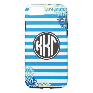 Kappa Kappa Gamma | Monogram Stripe Pattern iPhone 8/7 Case