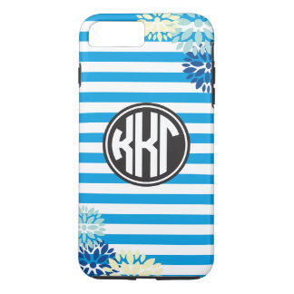 Kappa Kappa Gamma | Monogram Stripe Pattern iPhone 8 Plus/7 Plus Case