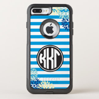 Kappa Kappa Gamma | Monogram Stripe Pattern OtterBox Commuter iPhone 7 Plus Case