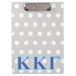 Kappa Kappa Gamma Royal Blue and Baby Blue Letters Clipboard