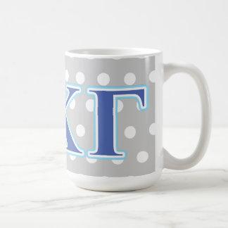 Kappa Kappa Gamma Royal Blue and Baby Blue Letters Coffee Mug