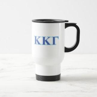 Kappa Kappa Gamma Royal Blue and Baby Blue Letters Travel Mug