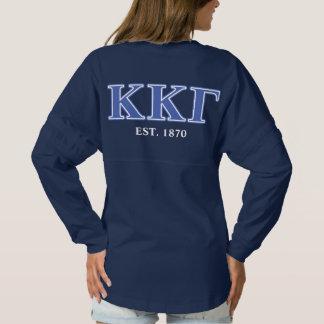 Kappa Kappa Gamma Royal Blue Letters Spirit Jersey