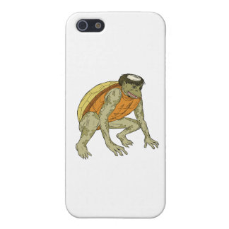 Kappa Monster Crouching Drawing Case For iPhone 5/5S