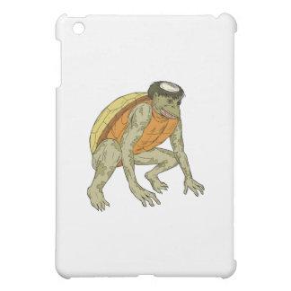 Kappa Monster Crouching Drawing iPad Mini Covers