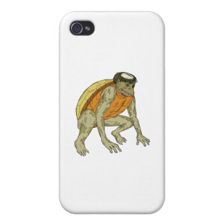 Kappa Monster Crouching Drawing iPhone 4/4S Case